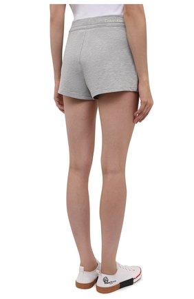 Женские шорты CALVIN KLEIN серого цвета, арт. QS6704E   Фото 4 (Длина Ж (юбки, платья, шорты): Мини; Материал внешний: Синтетический материал, Хлопок)