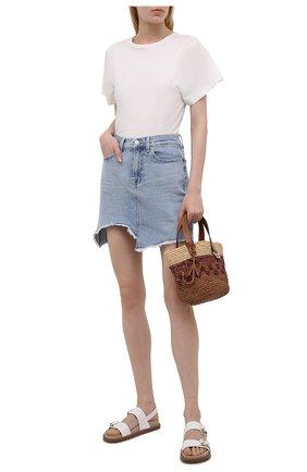 Женские кожаные сандалии judd MICHAEL MICHAEL KORS белого цвета, арт. 40T1JUFA1L | Фото 2