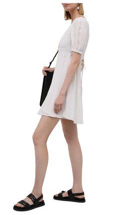 Женские кожаные сандалии judd MICHAEL MICHAEL KORS черного цвета, арт. 40T1JUFA2L | Фото 2