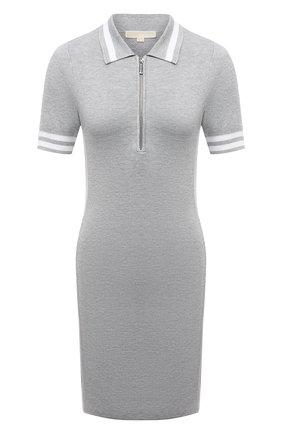 Женское платье из вискозы MICHAEL MICHAEL KORS светло-серого цвета, арт. MU1807R8S8 | Фото 1