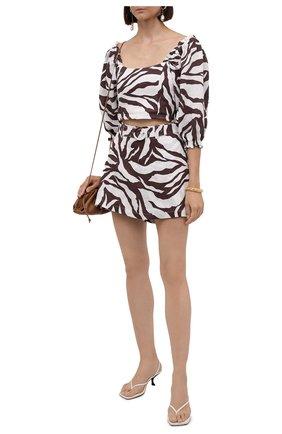 Льняная юбка-шорты | Фото №2