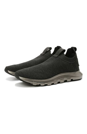Мужские текстильные кроссовки techmerino sock Z ZEGNA темно-серого цвета, арт. A5131X-LHSTE | Фото 1 (Материал внешний: Текстиль; Материал внутренний: Текстиль; Подошва: Массивная; Стили: Спорт)