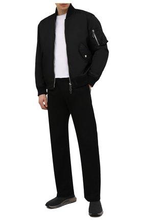 Мужские текстильные кроссовки techmerino sock Z ZEGNA темно-серого цвета, арт. A5131X-LHSTE | Фото 2 (Материал внешний: Текстиль; Материал внутренний: Текстиль; Подошва: Массивная; Стили: Спорт)