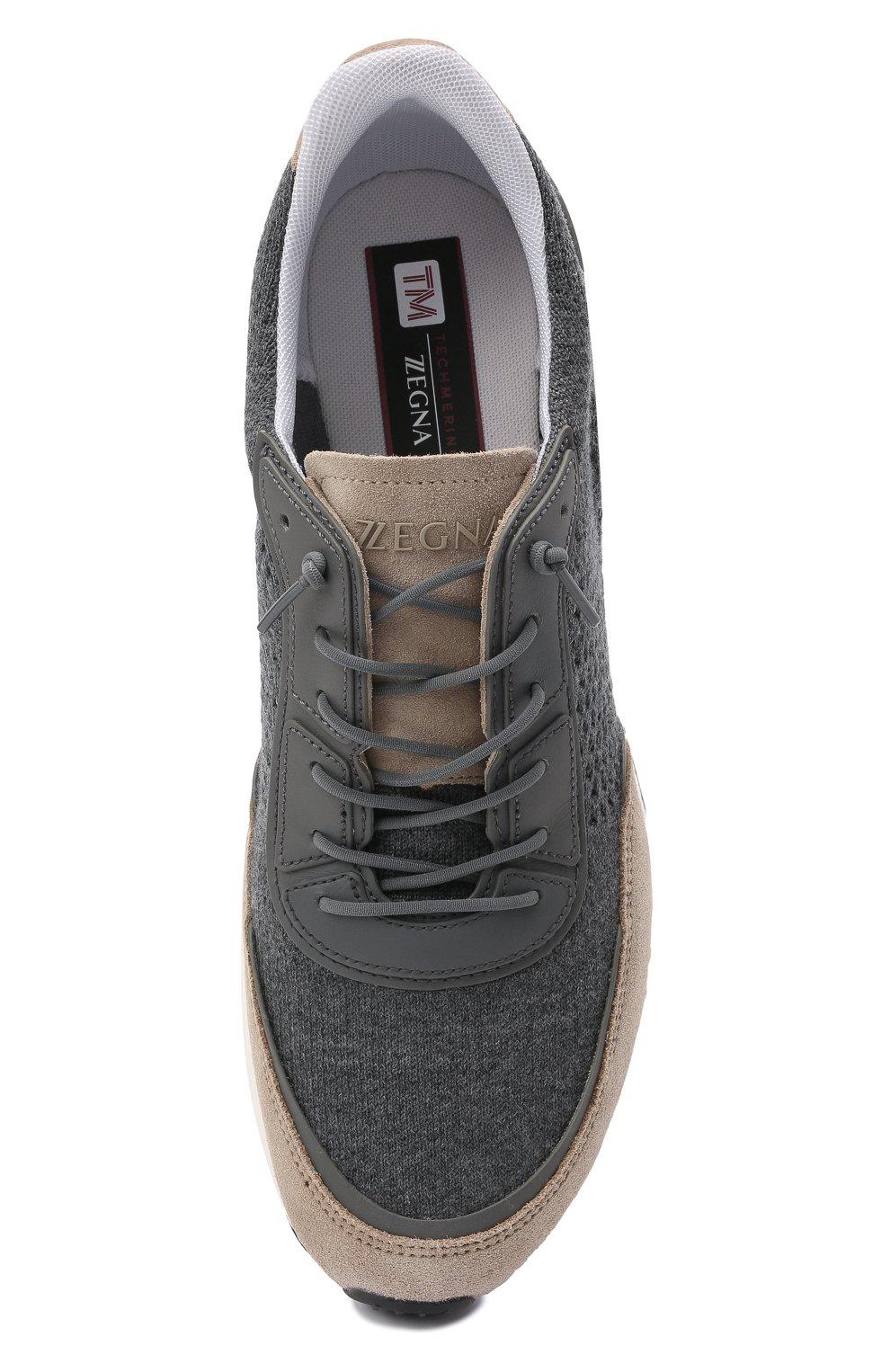 Мужские комбинированные кроссовки piuma Z ZEGNA разноцветного цвета, арт. A5107X-LHCB0   Фото 5 (Материал внешний: Текстиль; Материал внутренний: Текстиль; Подошва: Массивная)