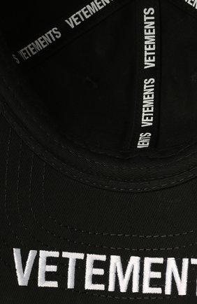 Мужской хлопковая бейсболка VETEMENTS черного цвета, арт. UA52CA500B 1052/M   Фото 4