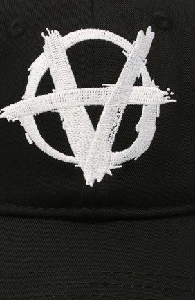Мужской хлопковая бейсболка VETEMENTS черного цвета, арт. UA52CA100B 1052/M   Фото 3