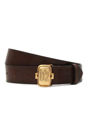 Женский кожаный ремень DSQUARED2 коричневого цвета, арт. BEW0266 12900001 | Фото 1
