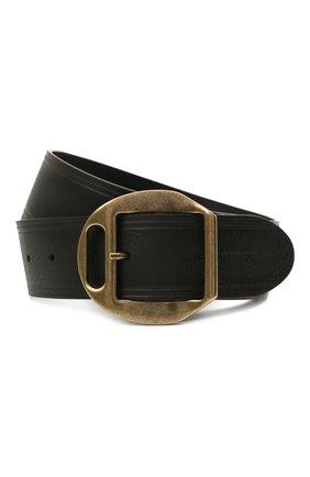Женский кожаный ремень DSQUARED2 черного цвета, арт. BEW0263 12900001 | Фото 1