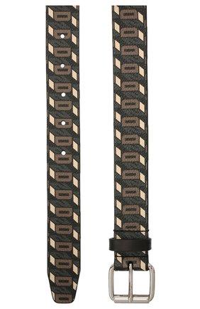Мужской кожаный ремень DSQUARED2 темно-коричневого цвета, арт. BEM0365 01504290 | Фото 2 (Случай: Повседневный)