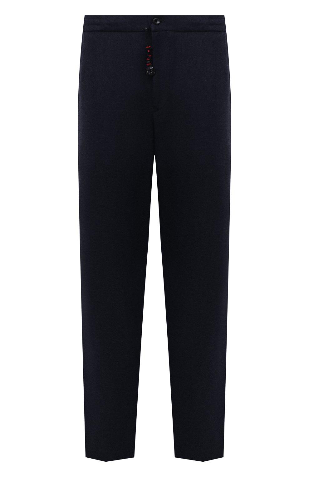 Мужские кашемировые брюки MARCO PESCAROLO темно-синего цвета, арт. CHIAIAM/ZIP+SFILA/4442   Фото 1 (Big sizes: Big Sizes; Материал внешний: Шерсть, Кашемир; Длина (брюки, джинсы): Стандартные; Случай: Повседневный; Стили: Кэжуэл)