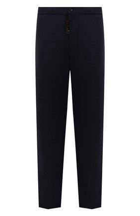 Мужские кашемировые брюки MARCO PESCAROLO темно-синего цвета, арт. CHIAIAM/ZIP+SFILA/4442 | Фото 1 (Материал внешний: Шерсть, Кашемир; Случай: Повседневный; Стили: Кэжуэл; Длина (брюки, джинсы): Стандартные; Big sizes: Big Sizes)