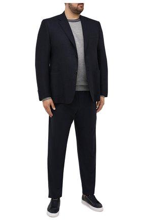 Мужские кашемировые брюки MARCO PESCAROLO темно-синего цвета, арт. CHIAIAM/ZIP+SFILA/4442 | Фото 2 (Материал внешний: Шерсть, Кашемир; Случай: Повседневный; Стили: Кэжуэл; Длина (брюки, джинсы): Стандартные; Big sizes: Big Sizes)