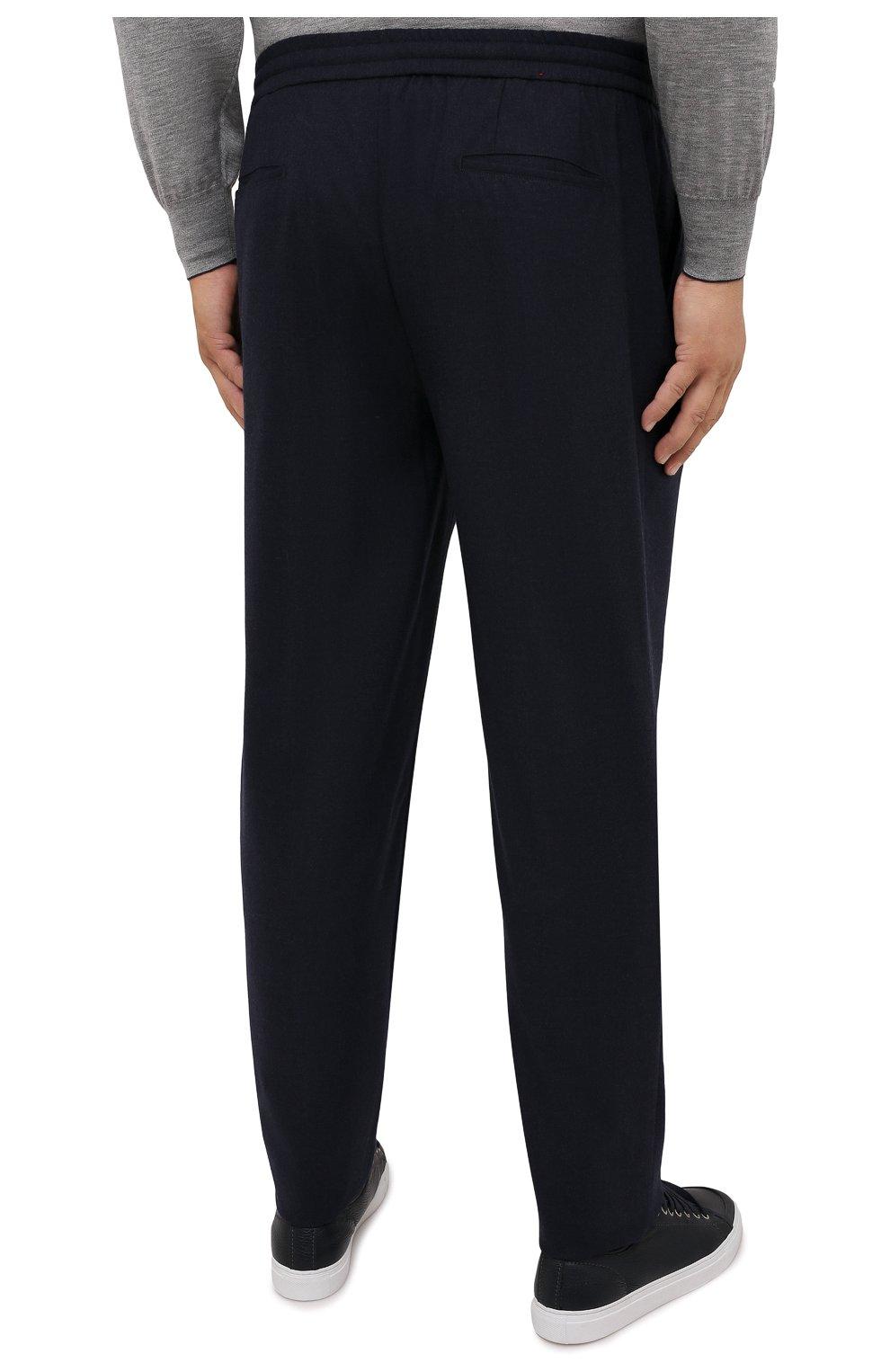 Мужские кашемировые брюки MARCO PESCAROLO темно-синего цвета, арт. CHIAIAM/ZIP+SFILA/4442   Фото 4 (Big sizes: Big Sizes; Материал внешний: Шерсть, Кашемир; Длина (брюки, джинсы): Стандартные; Случай: Повседневный; Стили: Кэжуэл)
