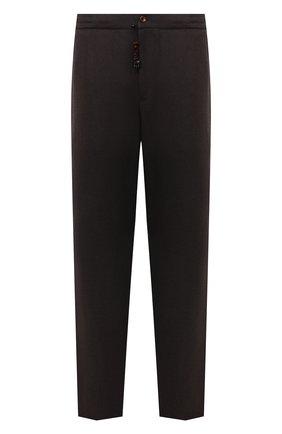 Мужские брюки из шерсти и кашемира MARCO PESCAROLO коричневого цвета, арт. CHIAIAM/ZIP+SFILA/4438 | Фото 1 (Материал внешний: Шерсть, Кашемир; Случай: Повседневный; Стили: Кэжуэл; Длина (брюки, джинсы): Стандартные; Big sizes: Big Sizes)