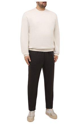 Мужские брюки из шерсти и кашемира MARCO PESCAROLO коричневого цвета, арт. CHIAIAM/ZIP+SFILA/4438 | Фото 2 (Материал внешний: Шерсть, Кашемир; Случай: Повседневный; Стили: Кэжуэл; Длина (брюки, джинсы): Стандартные; Big sizes: Big Sizes)