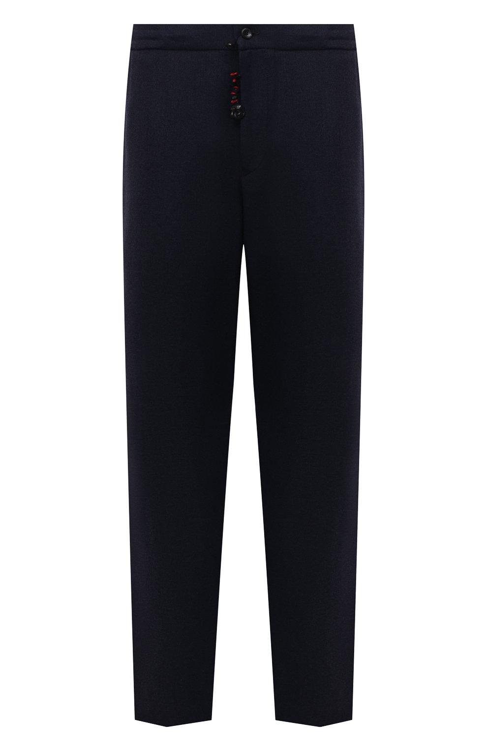 Мужские брюки из шерсти и кашемира MARCO PESCAROLO темно-синего цвета, арт. CHIAIAM/ZIP+SFILA/4438 | Фото 1 (Big sizes: Big Sizes; Материал внешний: Шерсть, Кашемир; Длина (брюки, джинсы): Стандартные; Случай: Повседневный; Стили: Кэжуэл)