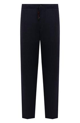 Мужские брюки из шерсти и кашемира MARCO PESCAROLO темно-синего цвета, арт. CHIAIAM/ZIP+SFILA/4438 | Фото 1 (Материал внешний: Шерсть, Кашемир; Случай: Повседневный; Стили: Кэжуэл; Длина (брюки, джинсы): Стандартные; Big sizes: Big Sizes)