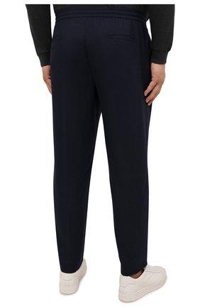 Мужские брюки из шерсти и кашемира MARCO PESCAROLO темно-синего цвета, арт. CHIAIAM/ZIP+SFILA/4438 | Фото 4 (Big sizes: Big Sizes; Материал внешний: Шерсть, Кашемир; Длина (брюки, джинсы): Стандартные; Случай: Повседневный; Стили: Кэжуэл)
