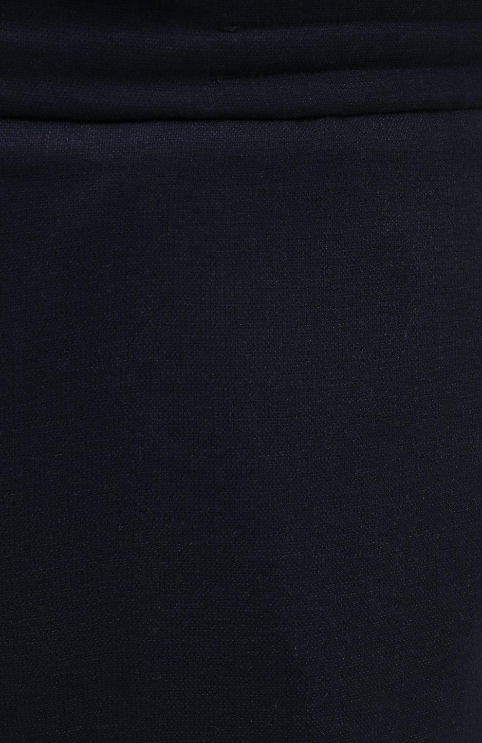 Мужские брюки из шерсти и кашемира MARCO PESCAROLO темно-синего цвета, арт. CHIAIAM/ZIP+SFILA/4438 | Фото 5 (Big sizes: Big Sizes; Материал внешний: Шерсть, Кашемир; Длина (брюки, джинсы): Стандартные; Случай: Повседневный; Стили: Кэжуэл)
