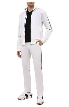 Мужские шерстяные брюки Z ZEGNA белого цвета, арт. VY470/ZZTP25 | Фото 2 (Материал внешний: Шерсть; Длина (брюки, джинсы): Стандартные; Случай: Повседневный; Кросс-КТ: Спорт; Мужское Кросс-КТ: Брюки-трикотаж; Стили: Спорт-шик)