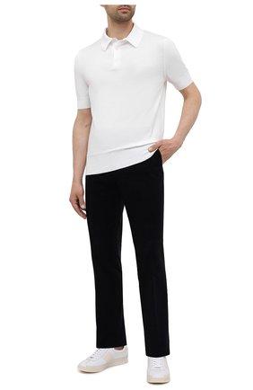 Мужские хлопковые брюки RALPH LAUREN темно-синего цвета, арт. 798843733 | Фото 2 (Длина (брюки, джинсы): Стандартные; Материал внешний: Хлопок; Случай: Повседневный; Материал подклада: Вискоза; Стили: Кэжуэл)