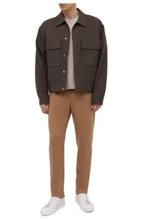 Мужские шерстяные брюки RALPH LAUREN светло-бежевого цвета, арт. 798851739 | Фото 2 (Материал внешний: Шерсть; Длина (брюки, джинсы): Стандартные; Случай: Повседневный; Стили: Кэжуэл)
