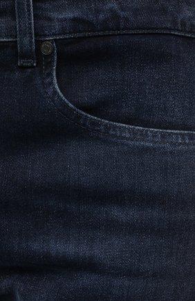 Мужские джинсы 7 FOR ALL MANKIND темно-синего цвета, арт. JSMNR460LL   Фото 5 (Силуэт М (брюки): Прямые; Длина (брюки, джинсы): Стандартные; Материал внешний: Хлопок; Стили: Кэжуэл)