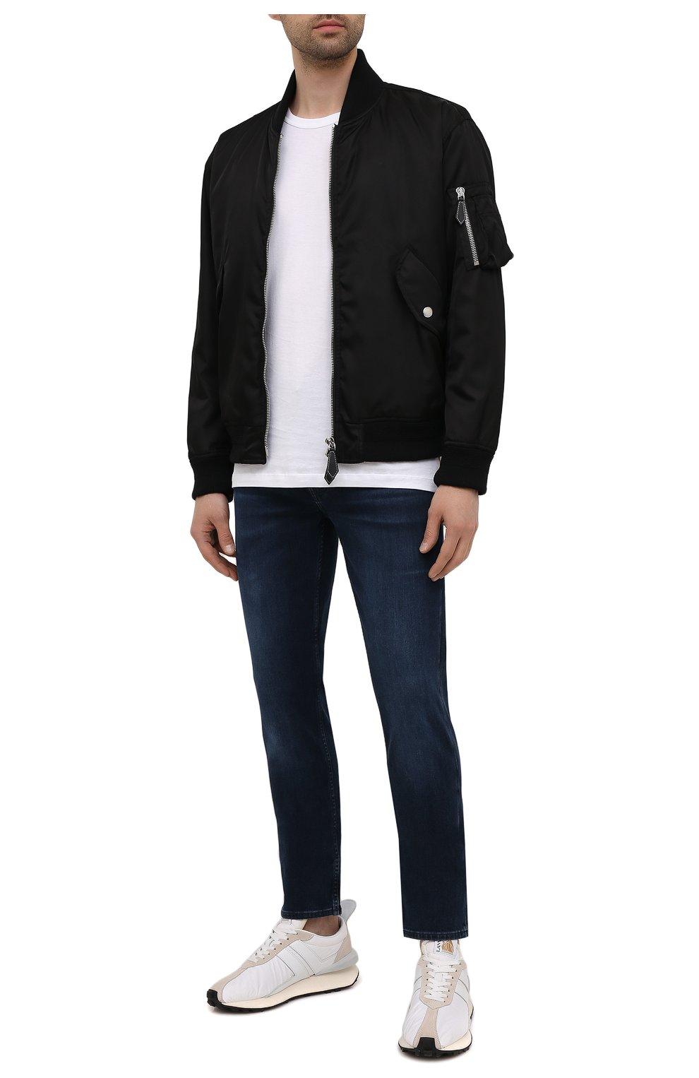 Мужские джинсы 7 FOR ALL MANKIND темно-синего цвета, арт. JSMXR460LL | Фото 2 (Силуэт М (брюки): Прямые; Длина (брюки, джинсы): Стандартные; Материал внешний: Хлопок; Стили: Кэжуэл)
