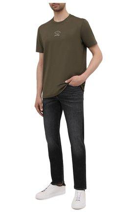 Мужские джинсы 7 FOR ALL MANKIND темно-серого цвета, арт. JSMSB820LG | Фото 2