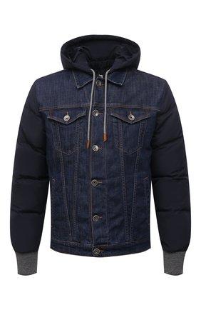 Мужская комбинированная куртка ELEVENTY темно-синего цвета, арт. D70GBTD04 TET0D023 | Фото 1