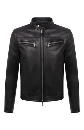 Мужская кожаная куртка ELEVENTY PLATINUM черного цвета, арт. D75GBTB18 PEL0D004   Фото 1