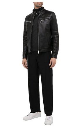Мужская кожаная куртка ELEVENTY PLATINUM черного цвета, арт. D75GBTB18 PEL0D004   Фото 2