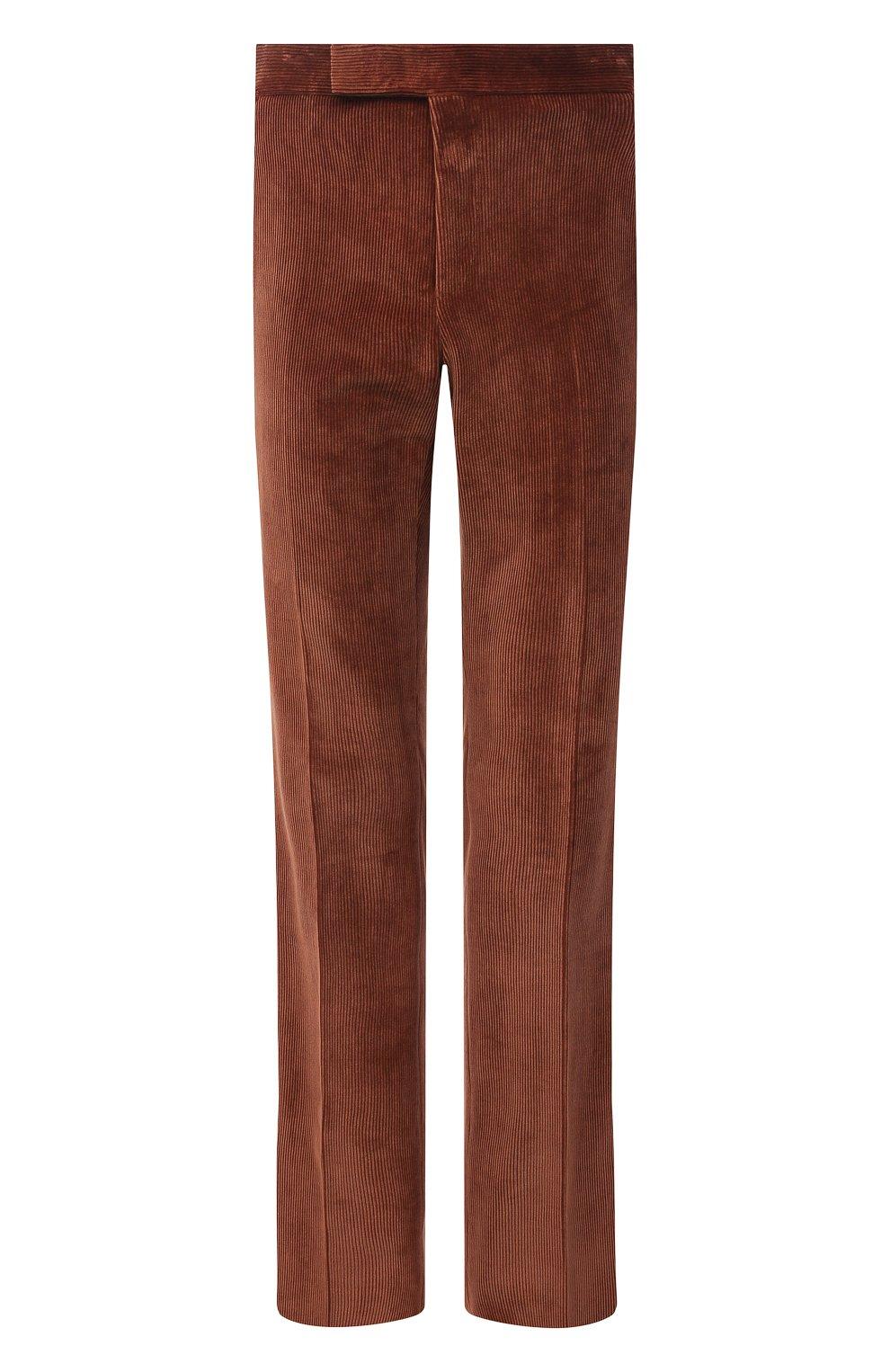 Мужские брюки TOM FORD коричневого цвета, арт. 2VER24/610041 | Фото 1