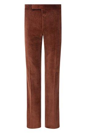 Мужские брюки TOM FORD коричневого цвета, арт. 2VER24/610041 | Фото 1 (Материал внешний: Синтетический материал, Хлопок; Длина (брюки, джинсы): Стандартные; Случай: Повседневный; Материал подклада: Купро; Стили: Кэжуэл)
