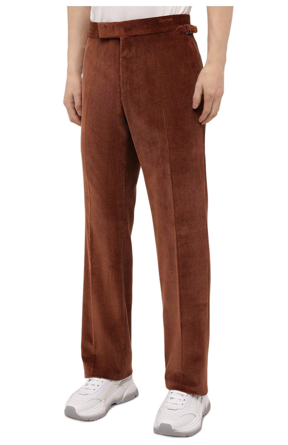 Мужские брюки TOM FORD коричневого цвета, арт. 2VER24/610041 | Фото 3