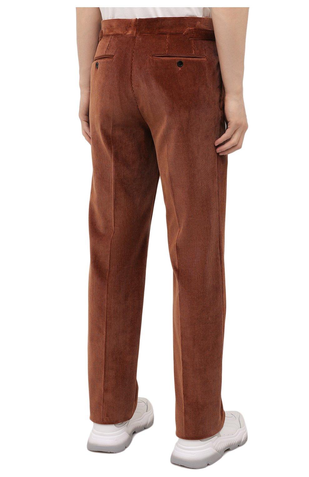 Мужские брюки TOM FORD коричневого цвета, арт. 2VER24/610041 | Фото 4