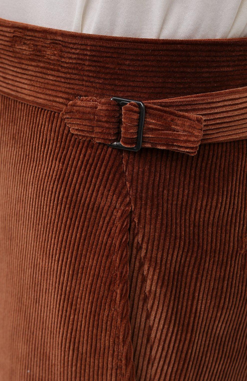 Мужские брюки TOM FORD коричневого цвета, арт. 2VER24/610041 | Фото 5