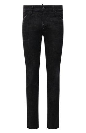 Мужские джинсы DSQUARED2 черного цвета, арт. S74LB0986/S30357 | Фото 1 (Силуэт М (брюки): Прямые; Кросс-КТ: Деним; Длина (брюки, джинсы): Стандартные; Стили: Гранж; Материал внешний: Хлопок)