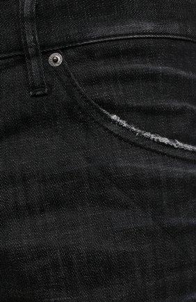 Мужские джинсы DSQUARED2 черного цвета, арт. S74LB0986/S30357 | Фото 5 (Силуэт М (брюки): Прямые; Кросс-КТ: Деним; Длина (брюки, джинсы): Стандартные; Стили: Гранж; Материал внешний: Хлопок)