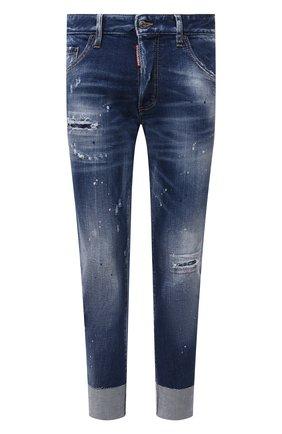 Мужские джинсы DSQUARED2 темно-синего цвета, арт. S74LB0968/S30663 | Фото 1