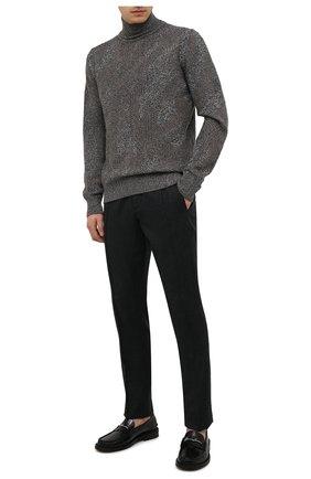 Мужские шерстяные брюки CANALI темно-серого цвета, арт. 91666/PR00825 | Фото 2