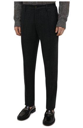 Мужские шерстяные брюки CANALI темно-серого цвета, арт. 91666/PR00825 | Фото 3