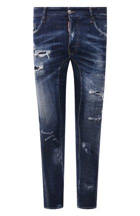 Мужские джинсы DSQUARED2 темно-синего цвета, арт. S74LB0960/S30342 | Фото 1