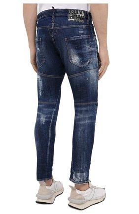 Мужские джинсы DSQUARED2 темно-синего цвета, арт. S74LB0960/S30342 | Фото 4 (Силуэт М (брюки): Прямые; Длина (брюки, джинсы): Стандартные; Материал внешний: Хлопок)