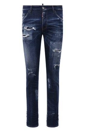 Мужские джинсы DSQUARED2 темно-синего цвета, арт. S74LB0961/S30342 | Фото 1