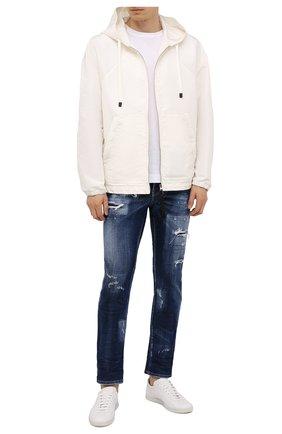 Мужские джинсы DSQUARED2 темно-синего цвета, арт. S74LB0961/S30342 | Фото 2