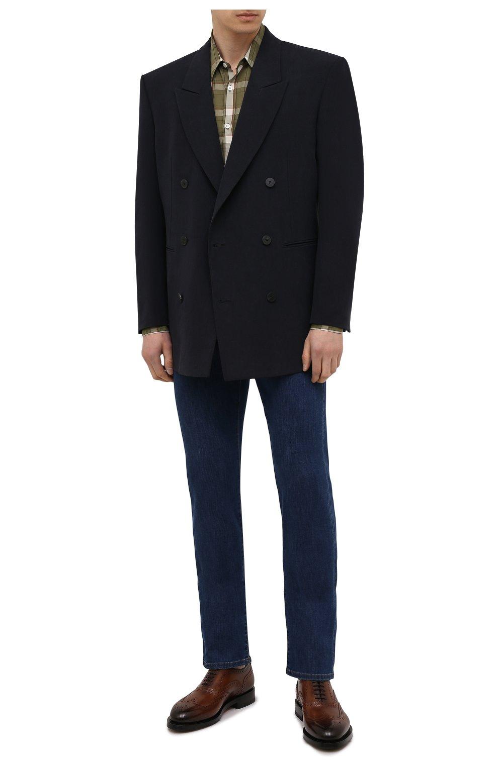 Мужские джинсы CANALI темно-синего цвета, арт. 91700/PD01033 | Фото 2