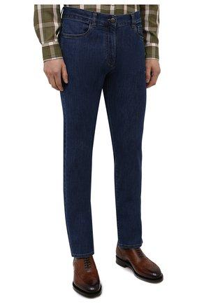 Мужские джинсы CANALI темно-синего цвета, арт. 91700/PD01033 | Фото 3