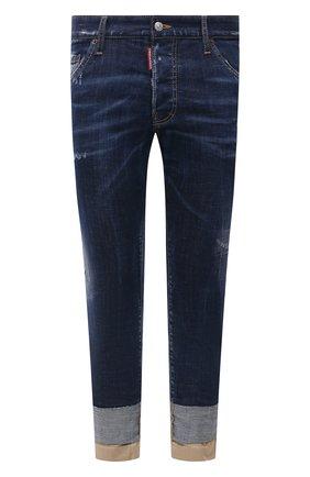 Мужские джинсы DSQUARED2 темно-синего цвета, арт. S74LB0951/S30342 | Фото 1