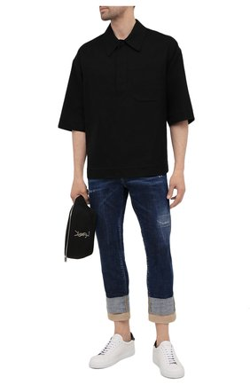 Мужские джинсы DSQUARED2 темно-синего цвета, арт. S74LB0951/S30342 | Фото 2